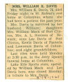 The Obituary of Mrs. William K. Davis