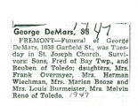 George DeMars, 88