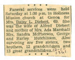The Obituary of Daisy Diebert