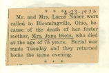 The Obituary of Jane Dietz