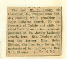 The Obituary of Rev. W. P. Dimke