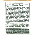 The Obituary of Charles Buck