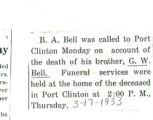 The Obituary of G. W. Bell