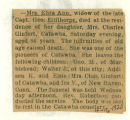 The Obituary of Eliza Ann Ellithorpe