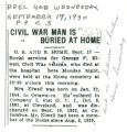 Civil War Man is Buried at Home