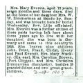 The Obituary of Mary Everett