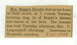 The Obituary of Maggie Everitt