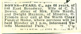The Obituary of Pearl C. Downs