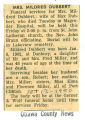The Obituary of Mildred Dubbert