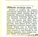 The Obituary of Andrew J. Dunbar