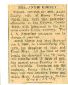 The Obituary of Annie Eberly