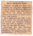 The Obituary of Ella Brokate