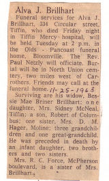 The Obituary of Alva J. Brillhart
