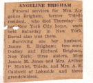 The Obituary of Angeline Brigham