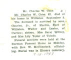 The Obituary of Charles W. Coon