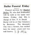 Butler Funeral Friday