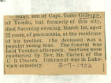 The Obituary of Isaac Gillespie