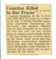 Countian Killed In Bar Fracas