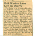 Rail Worker Losses Life In Quarry