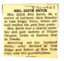 Mrs. Edith Batch