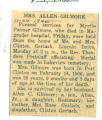 Obituary of Myrtle Palmer Gilmore