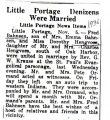 Little Portage Denizens Were Married