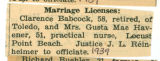 Babcock Marriage License