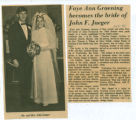 Faye Ann Graening Becomes the Bride of John F. Jaeger