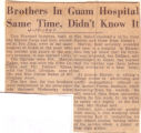 Brothers in Guam Hospital Same Time, Didn't Know It