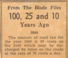 1840 Road Tax for Toledo