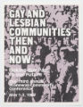 Gay and Lesbian Communities Then and Now Flyer