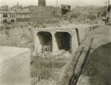 Subway construction in Miami canal bed photograph