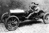 Eddie Rickenbacker in Firestone-Columbus racer photograph