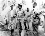 Eleanor Roosevelt with Major General Robert Beightler