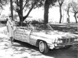 Jacquelyn Mayer with her official Miss Ohio 1962 Oldsmobile