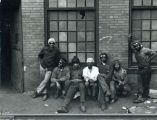Steelworkers on break
