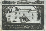 Hunt Farm woodcut print