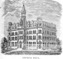 Council Hall at Oberlin College print