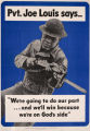 'Pvt. Joe Louis Says...' poster