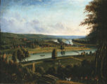 Marietta from Harmar Hill painting