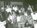 Westside Barber Shop protest photograph