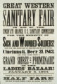 Great Western Sanitary Fair broadside