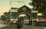 Indianola Park entrance postcard
