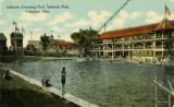 Indianola Park swimming pool postcard