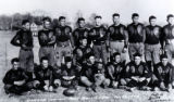 Oorang Tribe football team with Jim Thorpe