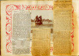 Zane Grey sports scrapbook page