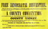 Free Democratic Convention Poster, Eaton, Ohio