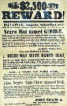 Runaway slaves reward poster