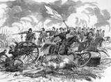 Cavalry charge at Cold Harbor illustration
