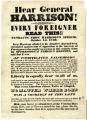 General Harrison Broadside